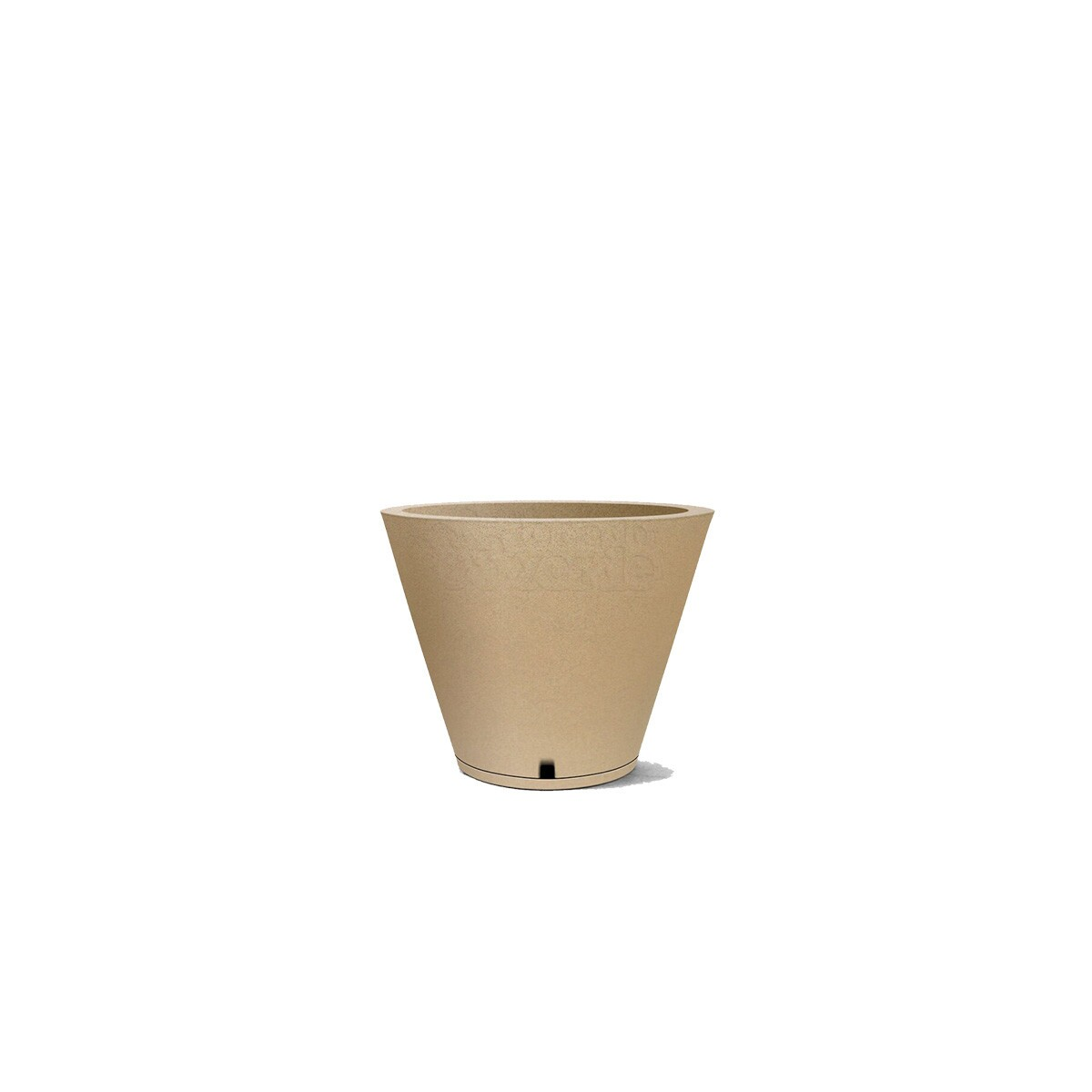 Vaso Petra N30 - Com prato embutido - 20 L - Cor Areia
