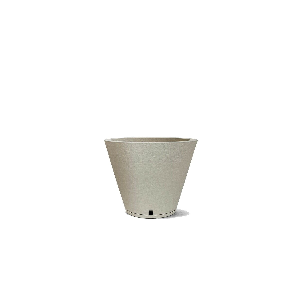 Vaso Petra N30 - Com prato embutido - 20 L - Cor Cimento