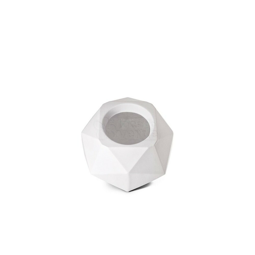Vaso Quartzo N11 - 11,3x15 cm - 850ml - Cor Branco