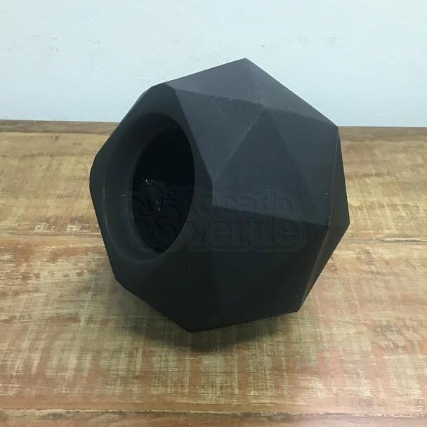 Vaso Quartzo N16 - 16x23 cm - 4,75L - Cor Preto