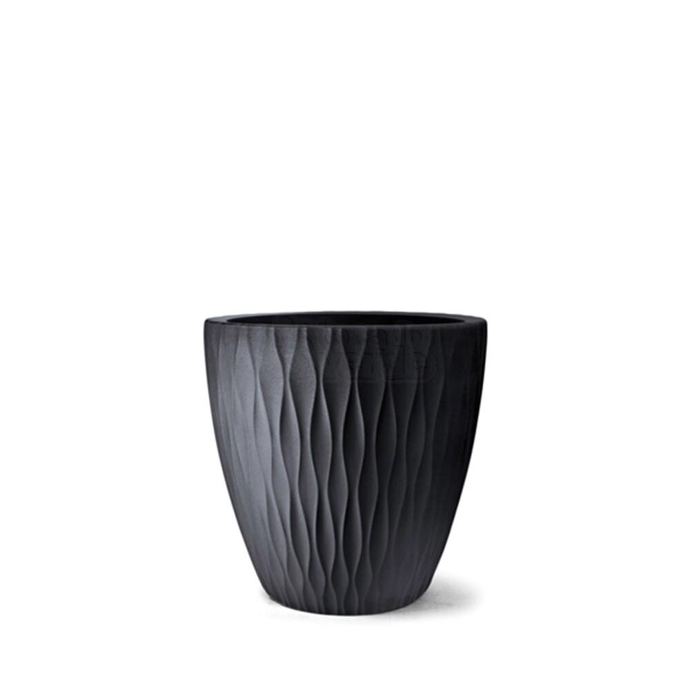 Vaso Infinity Redondo N50 - 50x50 cm - 70 L - preto
