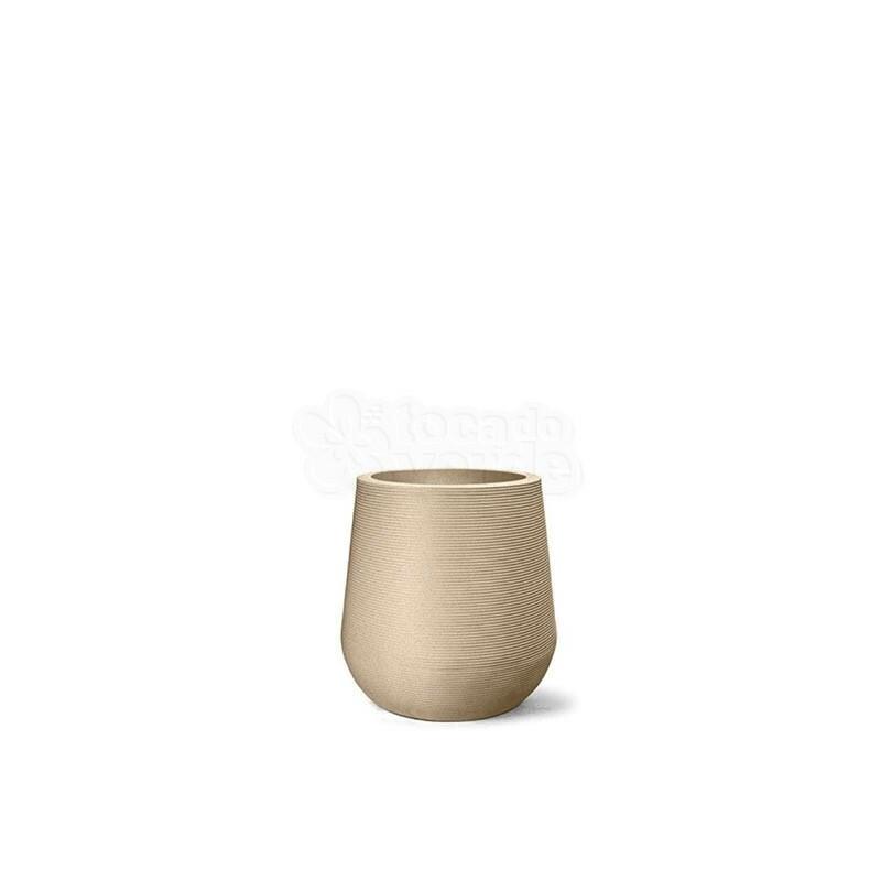 Vaso Riscatto Redondo N26 - 26x20,1cm - 9,3 Litros - Cor Areia