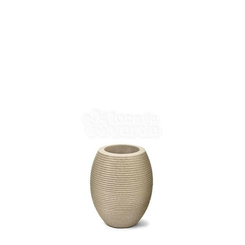 Vaso Riscatto Oval N27 - 27x16cm - 6,7 Litros - Cor Areia