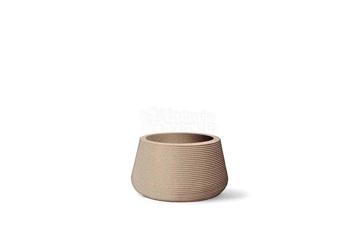 Vaso Riscatto Redondo Baixo N25 - 24,5x36cm - 27 Litros - Cor Areia