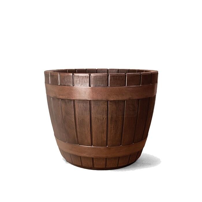 Vaso Redondo Tina N45 - 45x54,5 - 80 L - Cor Carvalho