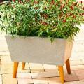 Jardineira 39 Com Pés em Madeira - RM057P - Cor Pedra