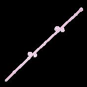 Tutor Orquideco 56 cm - Liso - Rosa