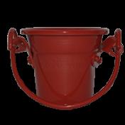 Baldinho de alumínio - N1,5 - Cor Vermelho Claro