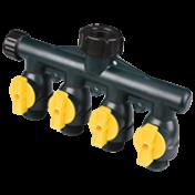Distribuidor de água - Conector Múltiplo - 4 vias - 337 - Melnor