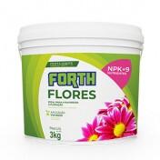 Forth Flores Fertilizante NPK 06-18-12 + 9 Nutrientes - 3 kg
