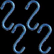 Gancho Para vasos - N2 - Aço Galvanizado - 4 unidades
