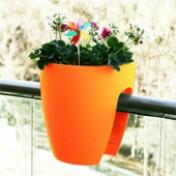Greenbo Planter - Vaso para Sacadas - Laranja