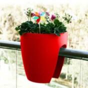 Greenbo Planter - Vaso para Sacadas - Vermelho