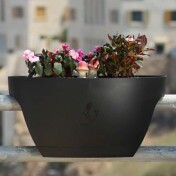 Greenbo XL Planter Grande - Vaso para Sacadas - Preto