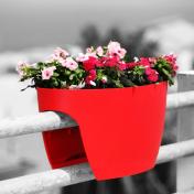 Greenbo XL Planter Grande - Vaso para Sacadas - Vermelho