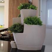 Jardineira Hortinha Vida - Autoirrigável - 42,5x34 - Cor Cimento