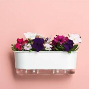 Jardineira 14x40 cm - Autoirrigável - Cor Branca