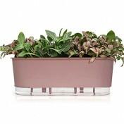 Jardineira 14x40 cm - Autoirrigável - Cor Rosa Quartz