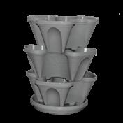 Jardineira Vertical -  PlastGarden - Cinza