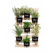 Kit Horta Vertical Gourmet 100x60 cm (7 Vasos T3 + 7 Suportes Argola + Treliça)