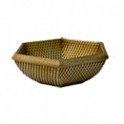 Cachepô Rattan 6 Lados Natural T2 - L1114