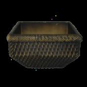 Cachepô Rattan Quadrado Tabaco T2 - L1108
