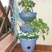 Mini Horta Vertical Auto Irrigável - Verde Vida - Cor Cinza