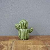 Mini Cactus Berrel Decorativo em Cerâmica - 6,0x5,5 cm - Cor Verde - 41177
