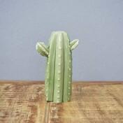 Cactus Mini Saguaro Decorativo em Cerâmica - 17x10,5 cm - Cor Verde - 41173