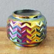 Mini Vaso Rainbow Waves em Cerâmica - 6,5x8 cm - 41120