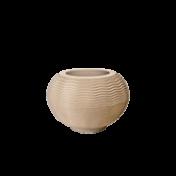 Vaso Ondulado Redondo N26 - 26x26cm - 20 Litros - Cor Areia