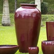 Vaso Fibra de Vidro - Pote 2 - 135 alt x 43 diâm - Diversas Cores - Rotogarden