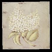 Quadro Madeira 20x20cm - Flor - CP0089