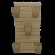 Kit RevestWall Cerejeira Jardim Vertical - Vasos de Parede na cor Cerejeira