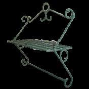 Suporte de Parede Azaleia - Uma prateleira - Metal - Verde - 50x46x19