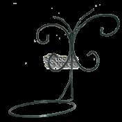 Suporte Parede Borboleta Flambeau para Vaso - Verde