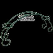 Suporte Gerânio II - para mini vaso ou velas - Verde