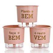 Trio Plante O Bem - Autoirrigável T3 Médio - Cor Rosa Qartz