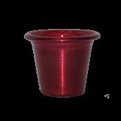 Mini Vaso de alumínio - N0 - Cor Vermelho Fire