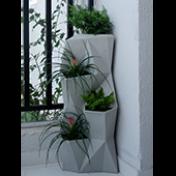 """Jardineira Vertical - Horta Vertical - Angolo - em """"L"""" - Cor Cimento"""