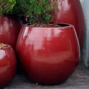 Vaso Fibra de Vidro - Vaso Bola M - 54 alt x 49 diâm - Diversas Cores - Rotogarden
