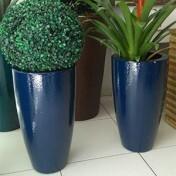 Vaso Fibra de Vidro - Cônico 36 - 46 alt x 36 diâm - Diversas Cores - Rotogarden
