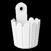 Vaso de Parede Cerquinha 15,5x14 cm - Branco - Landhaus