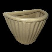 Vaso de Parede Leia 29 cm de Polietileno Cor Granito Areia - Vasart