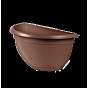 Vaso de Parede Plástico - 31x16x16 cm - Cor Tabaco