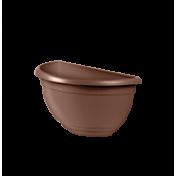Vaso de Parede Mini Plástico - 20x10x10 cm - Cor Tabaco