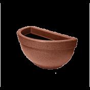 Vaso de Parede Texturizado 34,5 cm - 5 L - Ferrugem