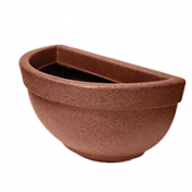 Vaso de Parede Texturizado 39 cm - 7 L - Ferrugem