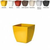 Cachepô Elegance Quadrado N01 - 11 alt x 11,2 larg - 0,95 Litros