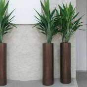 Vaso Fibra de Vidro - Cilindro 120 - 120 alt x 34 diâm - Diversas Cores - Rotogarden